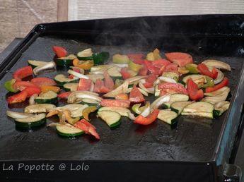Légumes marinés, cuisson à la plancha