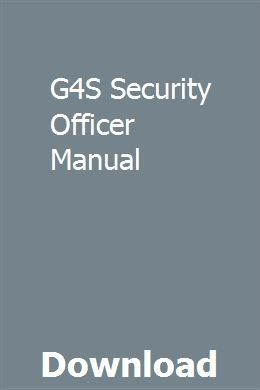 G4S Security Officer Manual download pdf