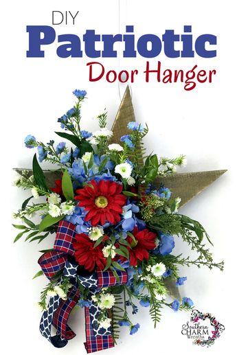 DIY Patriotic Door Hanger