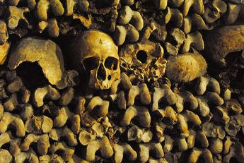 Les Catacombes, Paris, France. Worth the 4€ ticket to explore the underground cemetery
