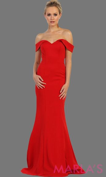 2e944a76ec11 Marla's Fashion Dresses @marlasfashions. 25w 1. Long off shoulder red fitted  mermaid dress. This sleek and sexy red dress is perfect