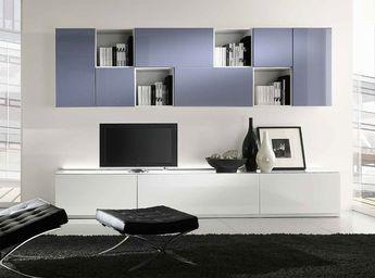 Mueble modular de pared montaje pared de madera rustic cha