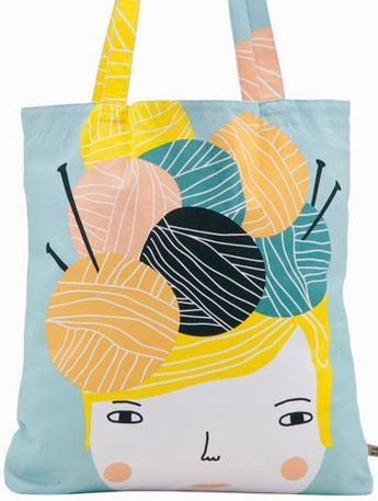 I need to hurry up and learn to knit just so I have an excuse to have this bag.  print  pattern: NEW SEASON - donna wilson