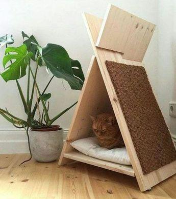 Un tipi pour chat : un DIY pour faire plaisir à nos compagnons à 4 pattes... :)