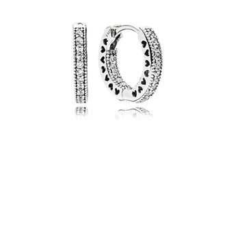 9b0aa7a87 Hearts of PANDORA Hoop Earrings, Clear CZ | PANDORA Jewelry US