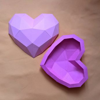22 - papercraft HEART - printable digital template
