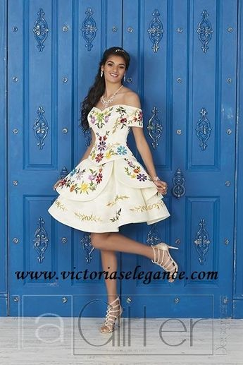 ebb6ef9e48b Floral Embroidered Quinceanera Dress by House of Wu 26908