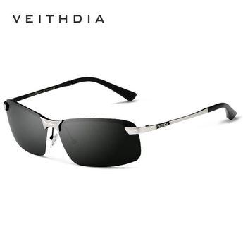 38e134521b7 FuzWeb VEITHDIA New Brand 3043 Polarized Sunglasses Men Aluminum Alloy  Frame Sunglass Driving Glasses Goggles