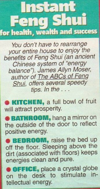 How to feng shui your home? Bedroom and bathroom