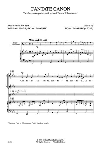 Cantate Canon (Two-Part) by Donald Moore| J.W. Pepper Sheet Music