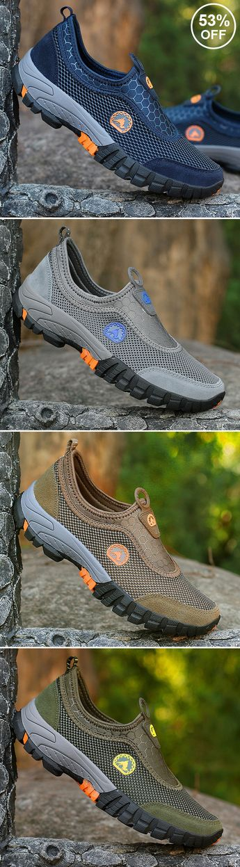 【US$ 33.99】Mens Large Size Breathable Mesh Slip On Loafers /Sneakers#outdoor #outdoors #casual #sneakers #shoes