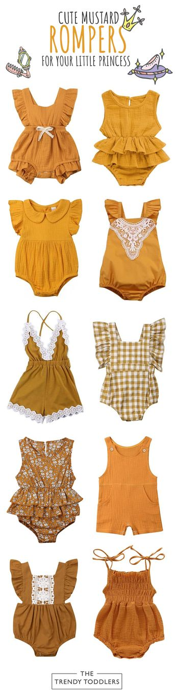 UP TO 55% OFF + FREE SHIPPING! Shop our entire collection of baby girl mustard rompers at thetrendytoddlers.com.