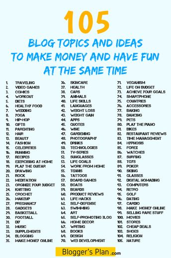 Read This Free List Of Blog Topics And Ideas To Make Money. Use The Inspiration & Tips For Beginners To Start A Five-Figure-Making Blog From Scratch, TODAY! #howtostartahomebusiness