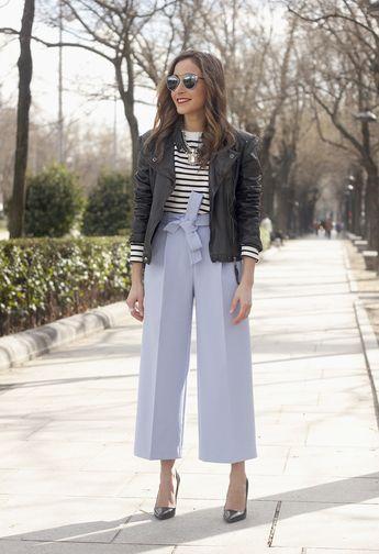 Light Blue Culotte Pants