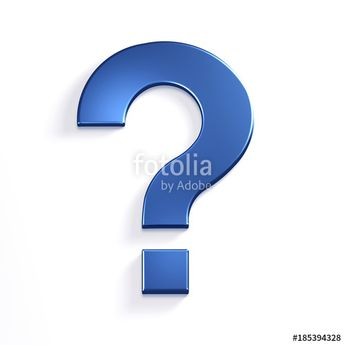 """""""Question Mark in Blue Color Symbol in Style. 3D Rendering Illustration"""" Stock photo and royalty-free images on Fotolia.com - Pic 185394328"""