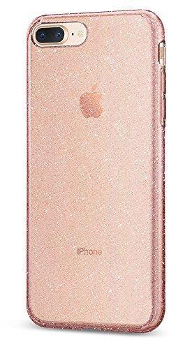 Spigen Liquid Crystal [2nd Generation] iPhone 8 Plus Case / iPhone 7 Plus Case with Premium Clarity for Apple iPhone 8 Plus (2017) / iPhone 7 Plus (2016) - Glitter Rose Quartz