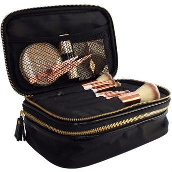 Makeup Bag Organiser - Black & Gold