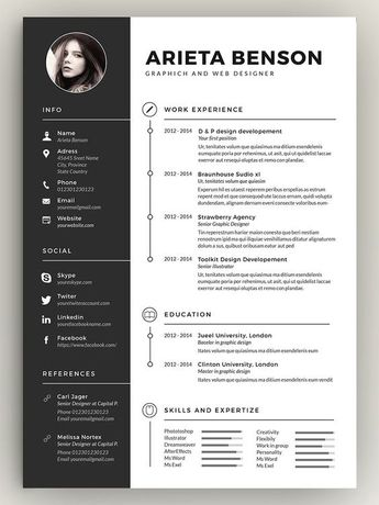 Here's a resume employers actually want to read. Try this clean, minimal resume template for landing your dream job!