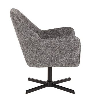 Diana Contemporary Lounge Chair Black/Gray - LumiSource