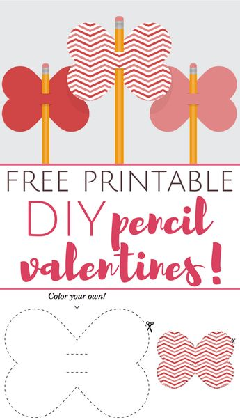 Free Printable DIY Pencil Valentines