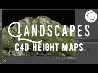 Height Map Landscapes in Cinema 4D Octane - Tutorial