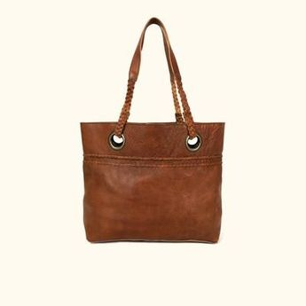 Camden Braided Leather Tote | Hickory