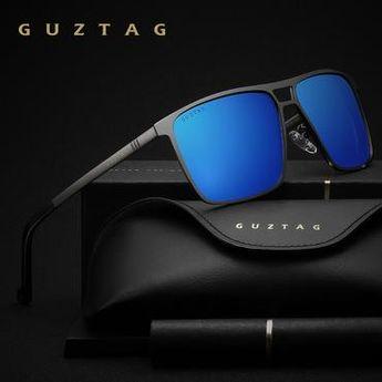 6c448c89d7 GUZTAG Unisex Stainless Steel Square Men Women HD Polarized Mirror UV400  Sun Glasses Eyewear Sunglasses