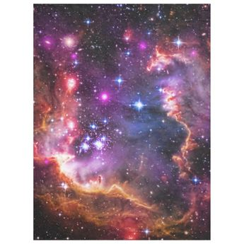 Outer Space Starry Wingtip, Small Magellanic Cloud Fleece Blanket | Zazzle.com