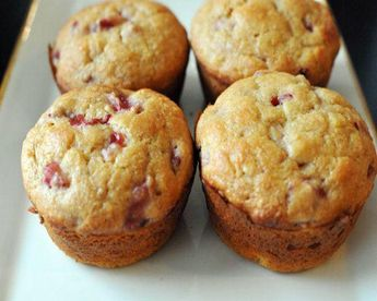Why make banana bread when you could make banana muffins instead? This recipe incoporates yogurt and fresh berries to give the classic banana bread recipe a summery twist.