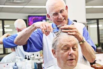 This barber outlasted the flattop and the mullet. At 82 his clippers are still buzzing