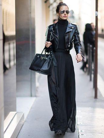 Vanessa Paradis et la veste en cuir , #cuir #Paradis #Vanessa #Veste