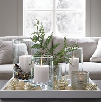 London Narrow Clear Hurricane Candle Holder + Reviews | Crate and Barrel