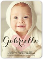 Heart birth announcement - shutterfly