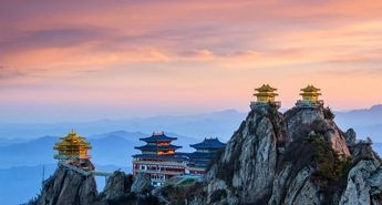 Ultimate Purity Temple (太清观) on the summit of Daoist mountain Mt Laojun, Henan Province  The mountain is recorded as where Lao Tzu (Laozi), the author o... - All Things Chinese - Google+