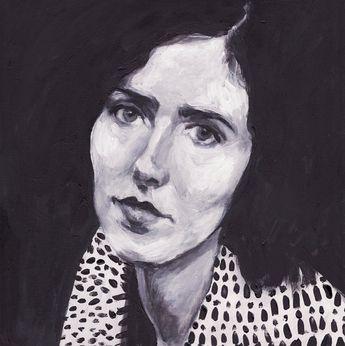Rimma- original acrylic painting- BLACK AND WHITE -vintage lady painting/ portrait painting / Original acrylic painting