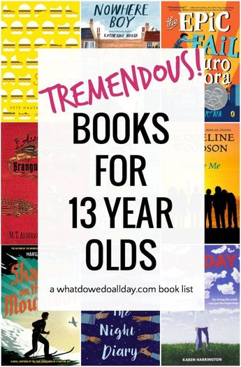 List of good books for 13 year olds. This age can be tricky for finding great books that are not too young or too mature. #childrensbooks