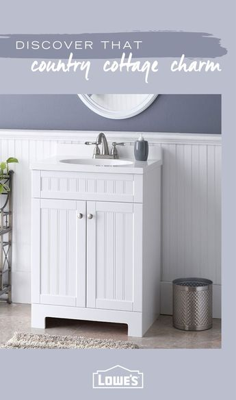 Give your bathroom a fresh, comfortable and rustic country cottage feel with must-have fashionable fixtures from Lowe's. From bathtubs to vanities — you'll find everything you need to make your dream bathroom a reality. Shop the collection today.