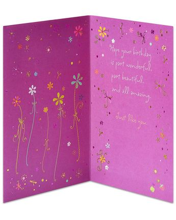 Amazon American Greetings Wonderful Beautiful Amazing Birthday Card With Foil Office Products