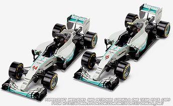 Hyper-realistic papercraft Mercedes AMG Petronas Formula One Team F1 W06 Hybrid race cars