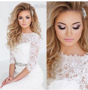 25 Lovely Bridal Hairstyle And Makeup Ideas
