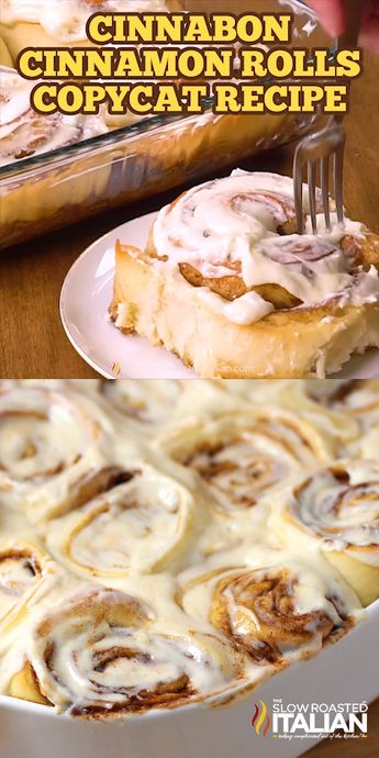 Cinnabon Cinnamon Roll Copycat Recipe will make you take a second thought, can it really be that good? A sweetened roll with a thick cinnamon-sugar filling and a cream cheese frosting that you are likely to remember long after the cinnamon roll is gone! #Cinnabon #CinnamonRolls