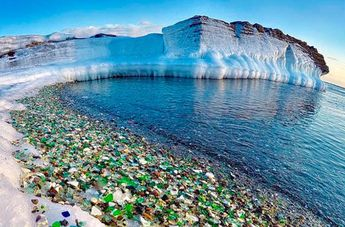 Russian Beach Once Used as Dumping Ground for Glass Now Has Beautiful Glass Pebbles