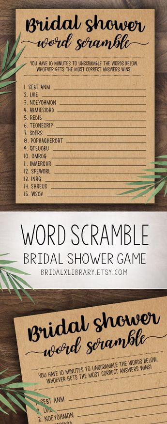 bridal word scramble bridal shower games printable bridal shower game idea bridal shower