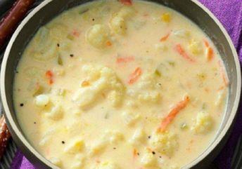 Recette : Soupe au chou-fleur crémeuse.