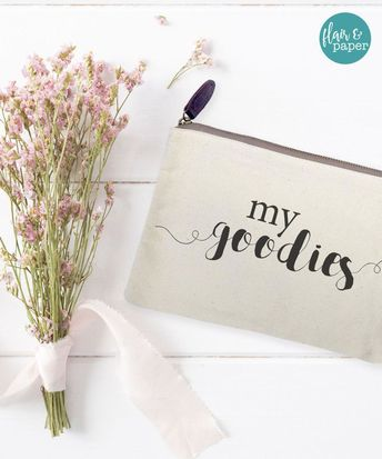 Canvas Makeup Bag - Make Up Pouch - Canvas pouch - Cosmetic pouch - Cosmetic Bag
