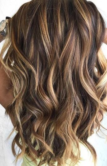 Impressive Long Brown Hair With Caramel Highlights