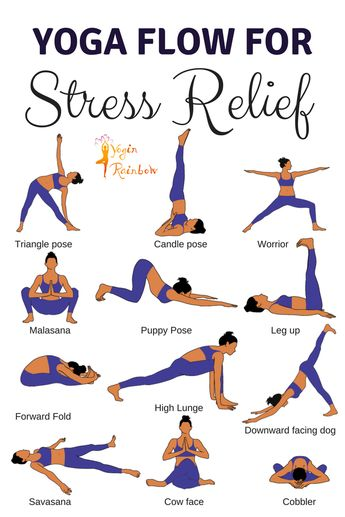 Yoga Flow for Stress Relief #yoga #yogainspiration #yogaflow #mindful #stress #inspiration #yogarainbow #health #exercises