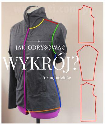 f895a12890e34 Jak zrobić wykrój na bluzę na podstawie gotowego ubrania - eti blog o szyciu