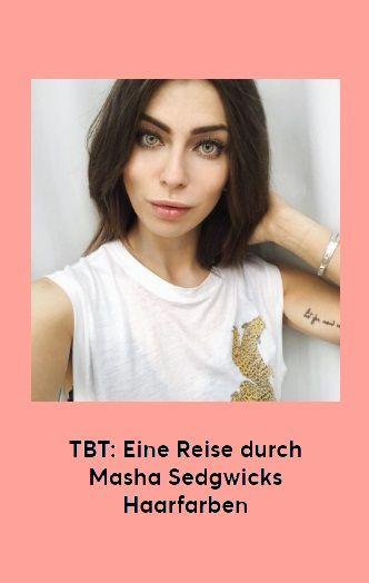 TBT: Eine Reise durch Masha Sedgwicks Haarfarben #Tbt #MashaSedgwick #Instastyle