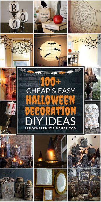 100 Cheap and Easy Halloween Decorations #halloween #halloweendecor #halloweendecorations #halloweenparty #diy #homedecor #crafts #halloweencrafts